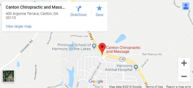 Map of Canton Chiropractors